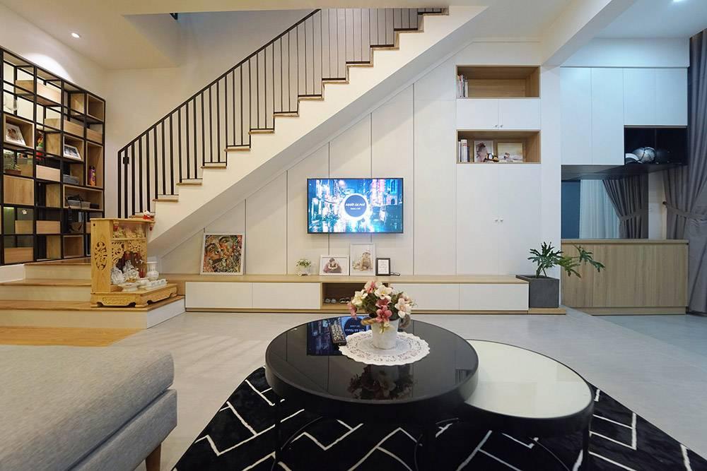 mẫu thiết kế nhà 2 tầng mặt tiền 6m 10