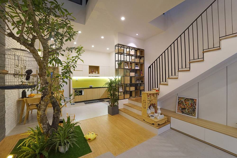 mẫu thiết kế nhà 2 tầng mặt tiền 6m 11
