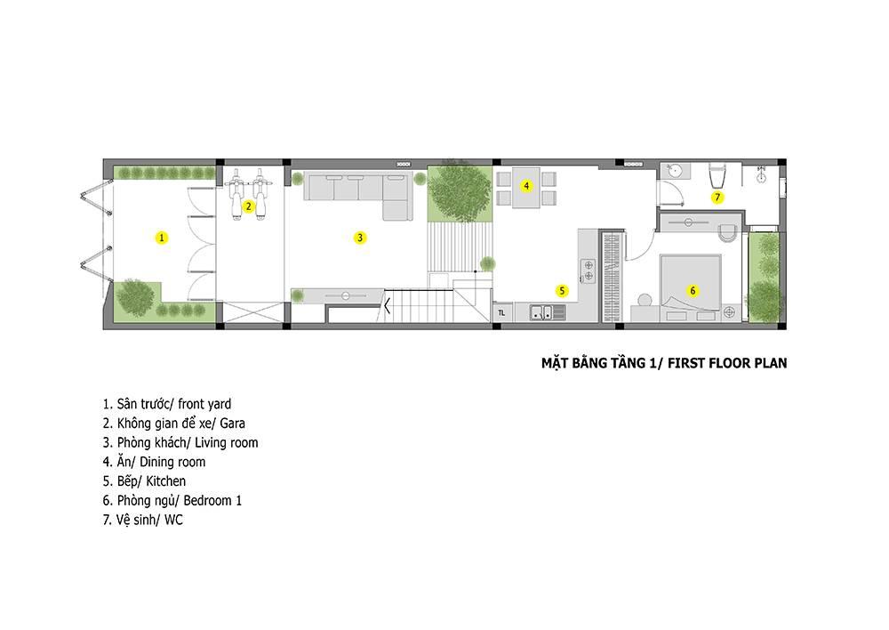 mẫu thiết kế nhà 2 tầng mặt tiền 6m 2