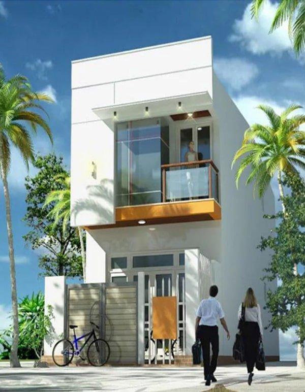 mẫu thiết kế nhà 2 tầng mặt tiền 6m 19