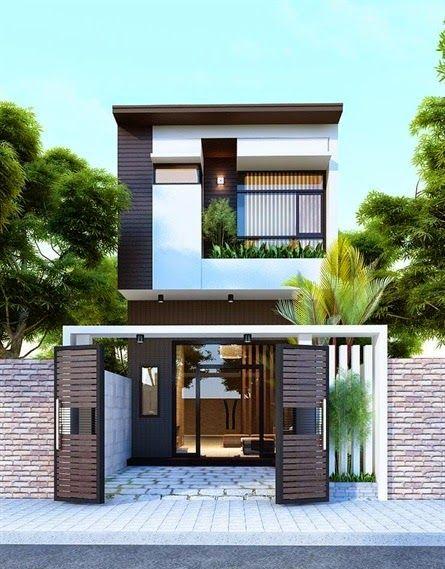 mẫu thiết kế nhà 2 tầng mặt tiền 6m 21