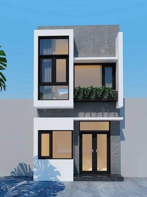 mẫu thiết kế nhà 2 tầng mặt tiền 6m 22