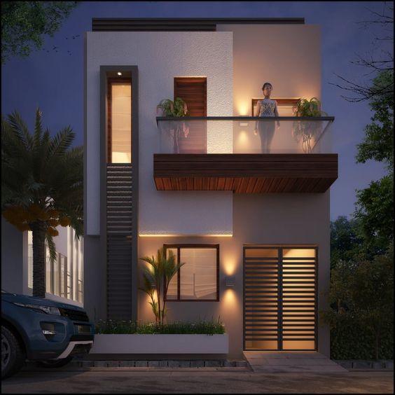 mẫu thiết kế nhà 2 tầng mặt tiền 6m 23