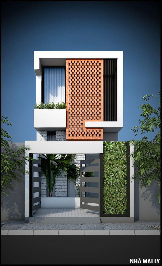 mẫu thiết kế nhà 2 tầng mặt tiền 6m 24