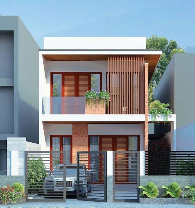 mẫu thiết kế nhà 2 tầng mặt tiền 6m 26