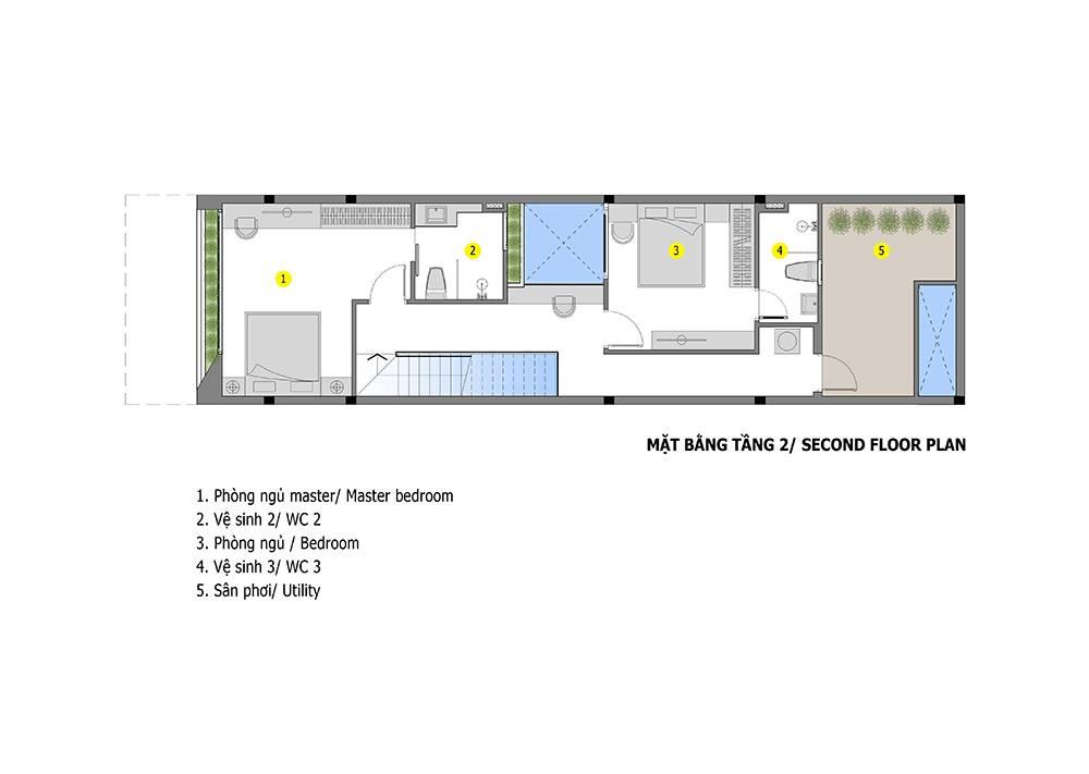 mẫu thiết kế nhà 2 tầng mặt tiền 6m 3