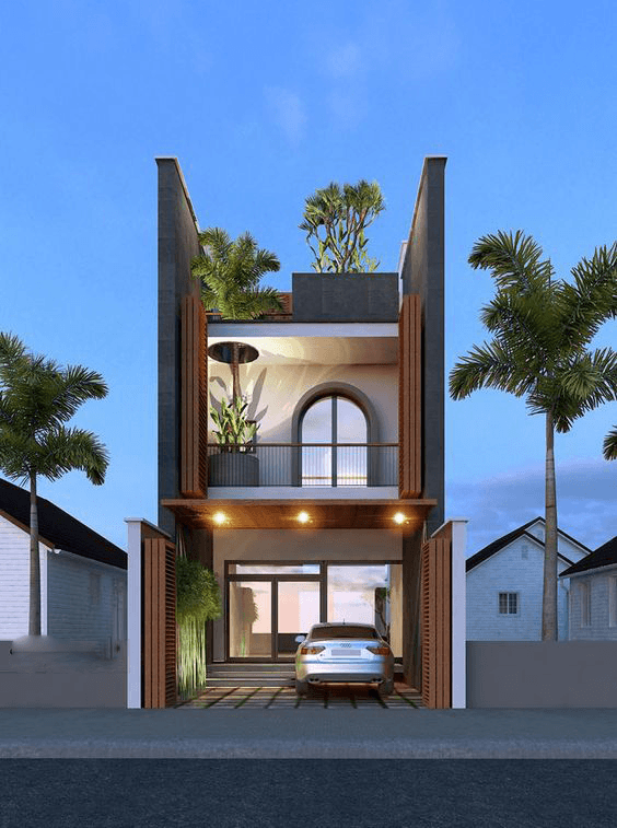mẫu thiết kế nhà 2 tầng mặt tiền 6m 28