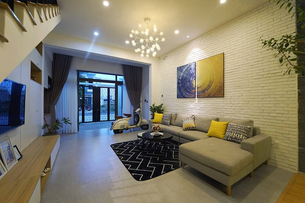 mẫu thiết kế nhà 2 tầng mặt tiền 6m 4