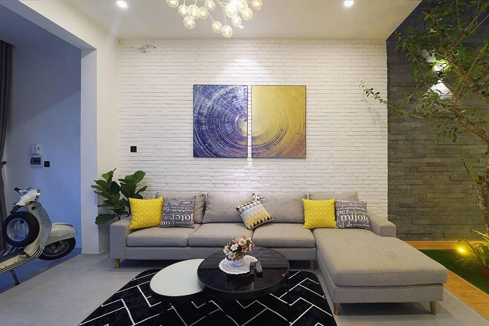 mẫu thiết kế nhà 2 tầng mặt tiền 6m 5