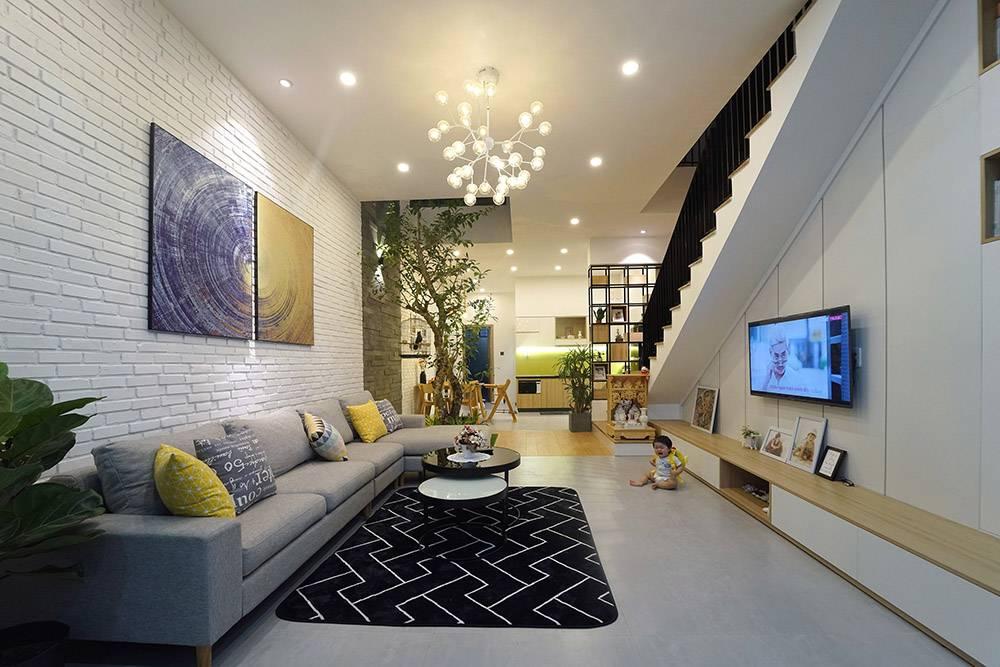 mẫu thiết kế nhà 2 tầng mặt tiền 6m 6