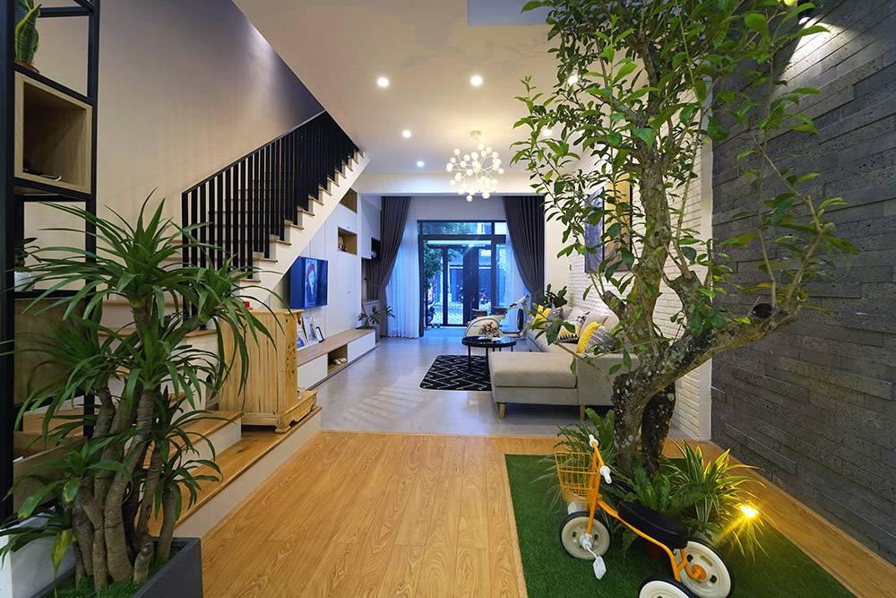 mẫu thiết kế nhà 2 tầng mặt tiền 6m 7