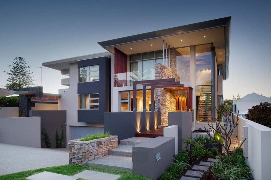 mẫu thiết kế nhà 2 tầng mặt tiền 7m