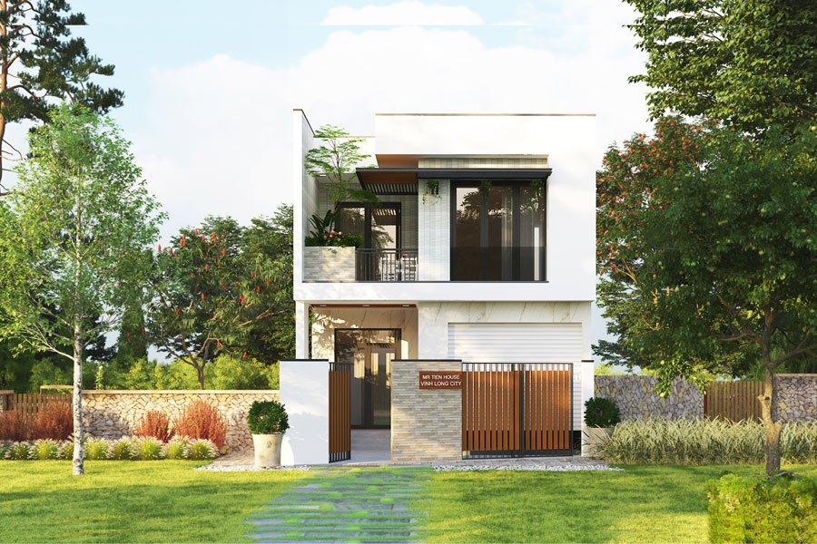 mẫu thiết kế nhà 6x10m 2 tầng 1
