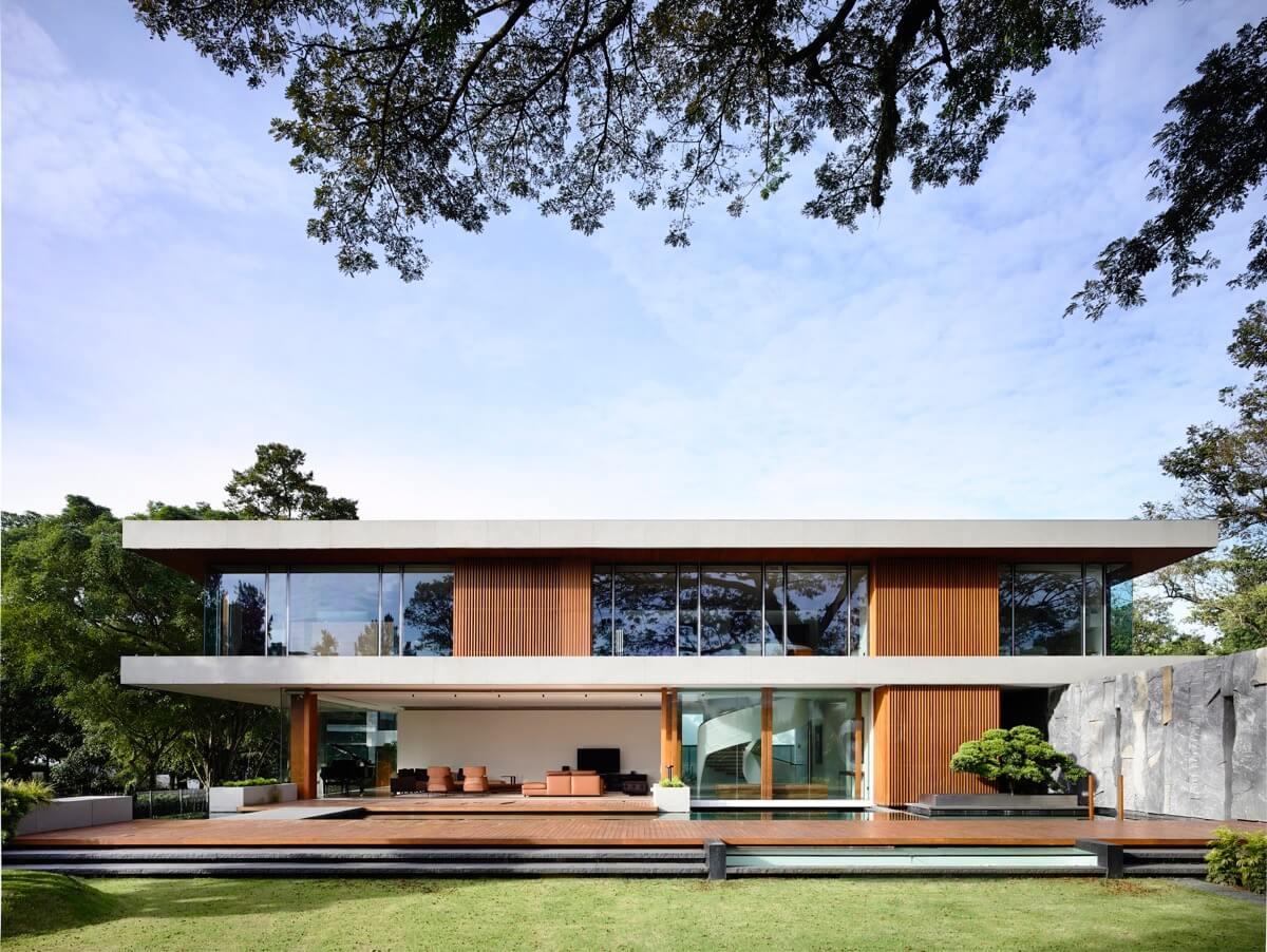 mặt tiền thiết kế nhà biệt thự đẹp phong cách hiện đại