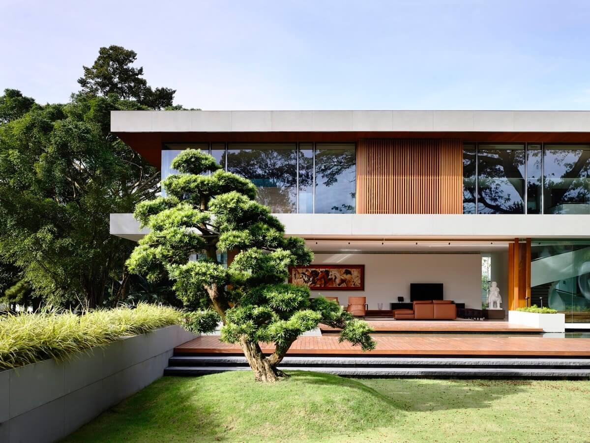mặt tiền thiết kế nhà biệt thự đẹp phong cách hiện đại đẹp