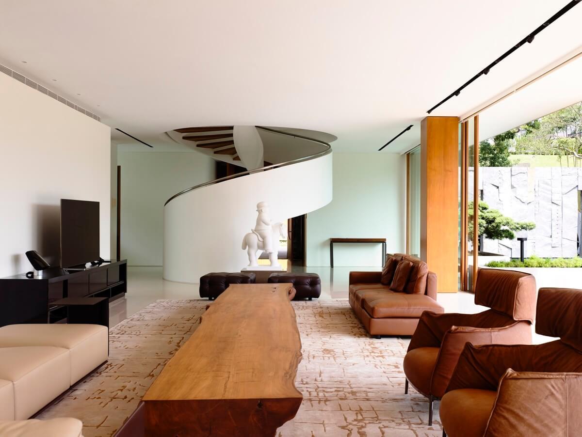 phòng khách thiết kế nhà biệt thự đẹp hiện đại