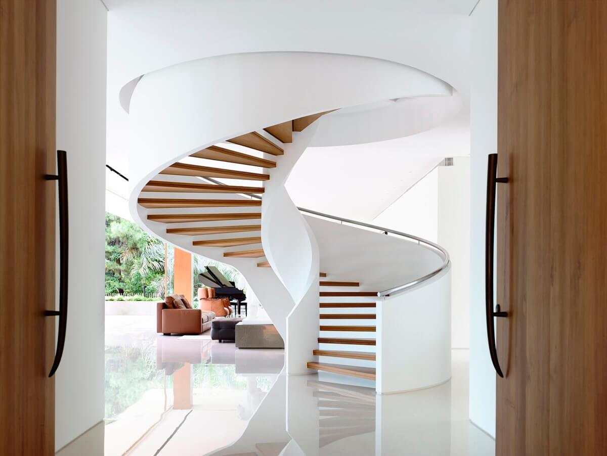 cầu thang thiết kế nhà biệt thự đẹp hiện đại