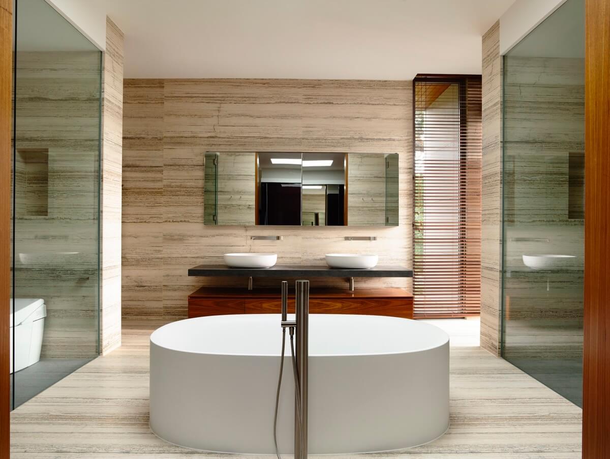 phòng tắm thiết kế nhà biệt thự đẹp hiện đại
