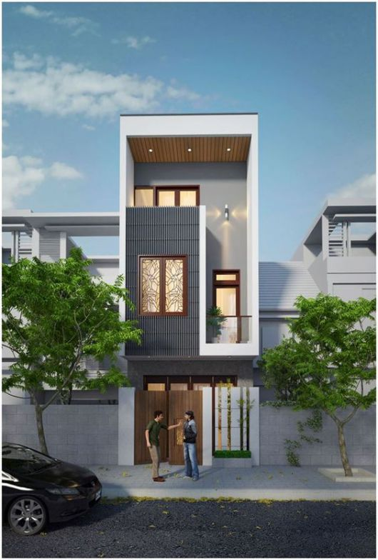 mẫu thiết kế nhà đẹp 5x15 hiện đại đơn giản 1
