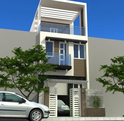mẫu thiết kế nhà đẹp 5x15 hiện đại đơn giản 5