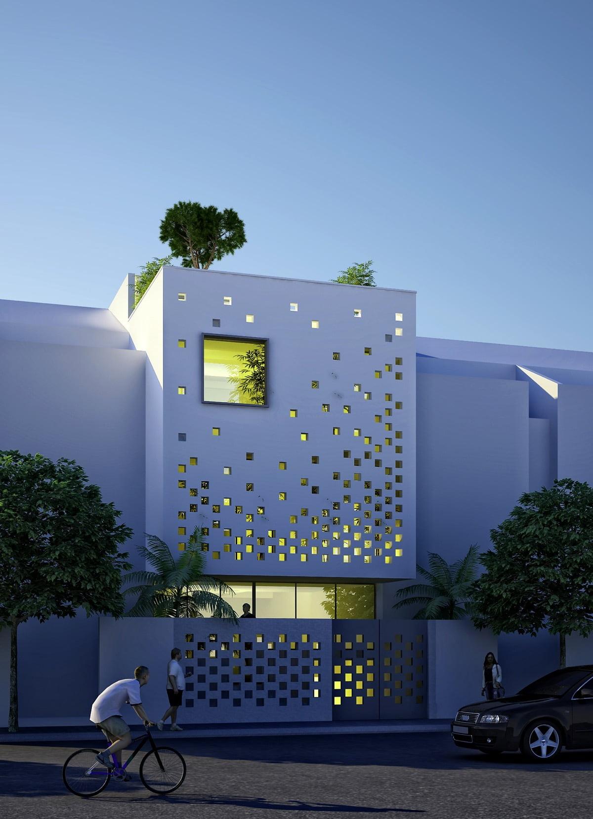 mẫu thiết kế nhà ngang 6m 16