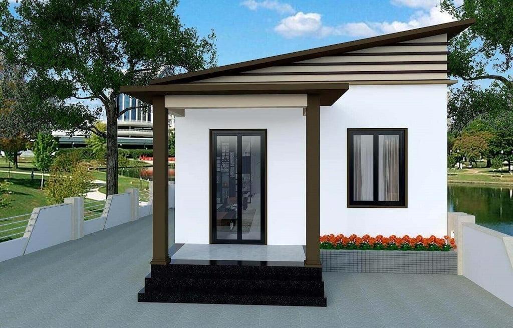 mẫu thiết kế nhà ngang 6m 3
