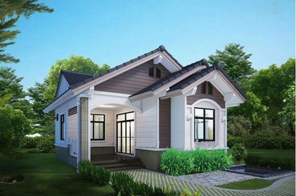 mẫu thiết kế nhà ngang 6m 4