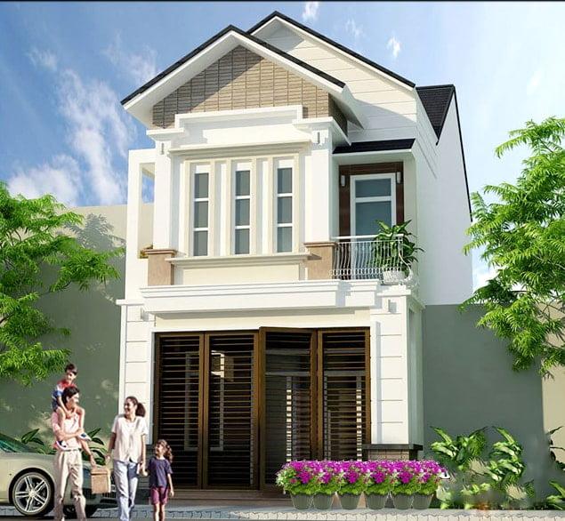 mẫu thiết kế nhà ngang 6m 7