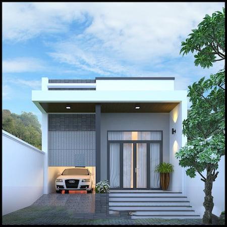 mẫu thiết kế nhà 1 tầng 3 phòng ngủ đẹp 19