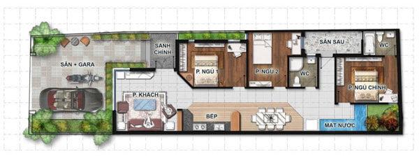 mẫu thiết kế nhà 1 tầng 3 phòng ngủ đẹp 20