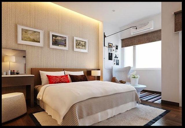phòng ngủ thiết kế nhà ống 2 tầng 3 phòng ngủ
