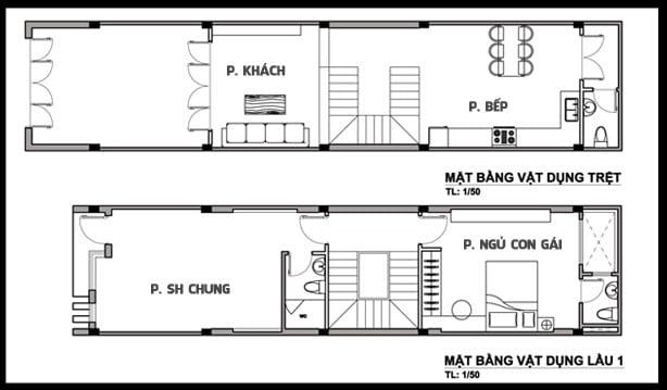 mẫu thiết kế nhà ống 3 tầng 4x15 phong cách hiện đại 4