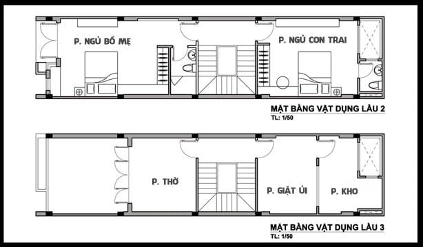 mẫu thiết kế nhà ống 3 tầng 4x15 phong cách hiện đại 3