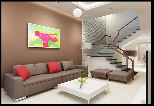 mẫu thiết kế nhà ống 3 tầng 4x15 phong cách hiện đại 5
