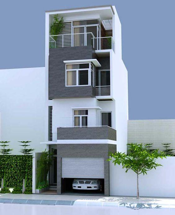 thiết kế nhà phố có gara để xe ô tô hiện đại 20