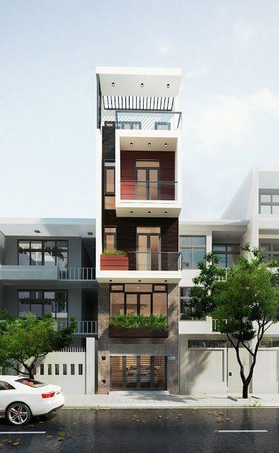 thiết kế nhà phố có gara để xe ô tô hiện đại 7