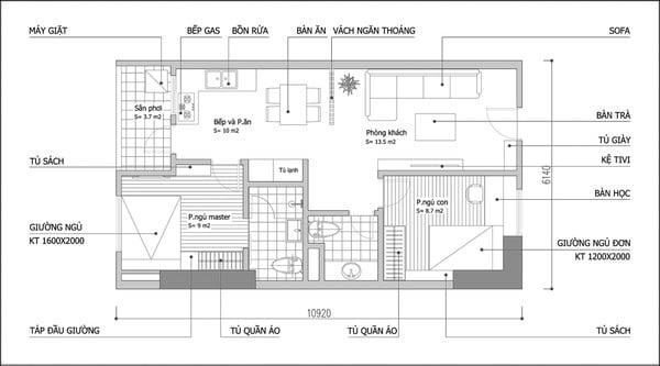 mẫu thiết kế nội thất căn hộ chung cư 80m2 đẹp