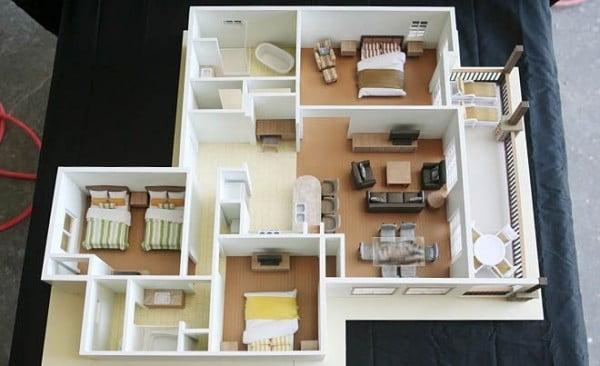 mẫu thiết kế nội thất căn hộ chung cư 80m2 đẹp 4