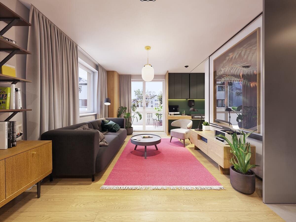 mẫu thiết kế nội thất chung cư hiện đại 1