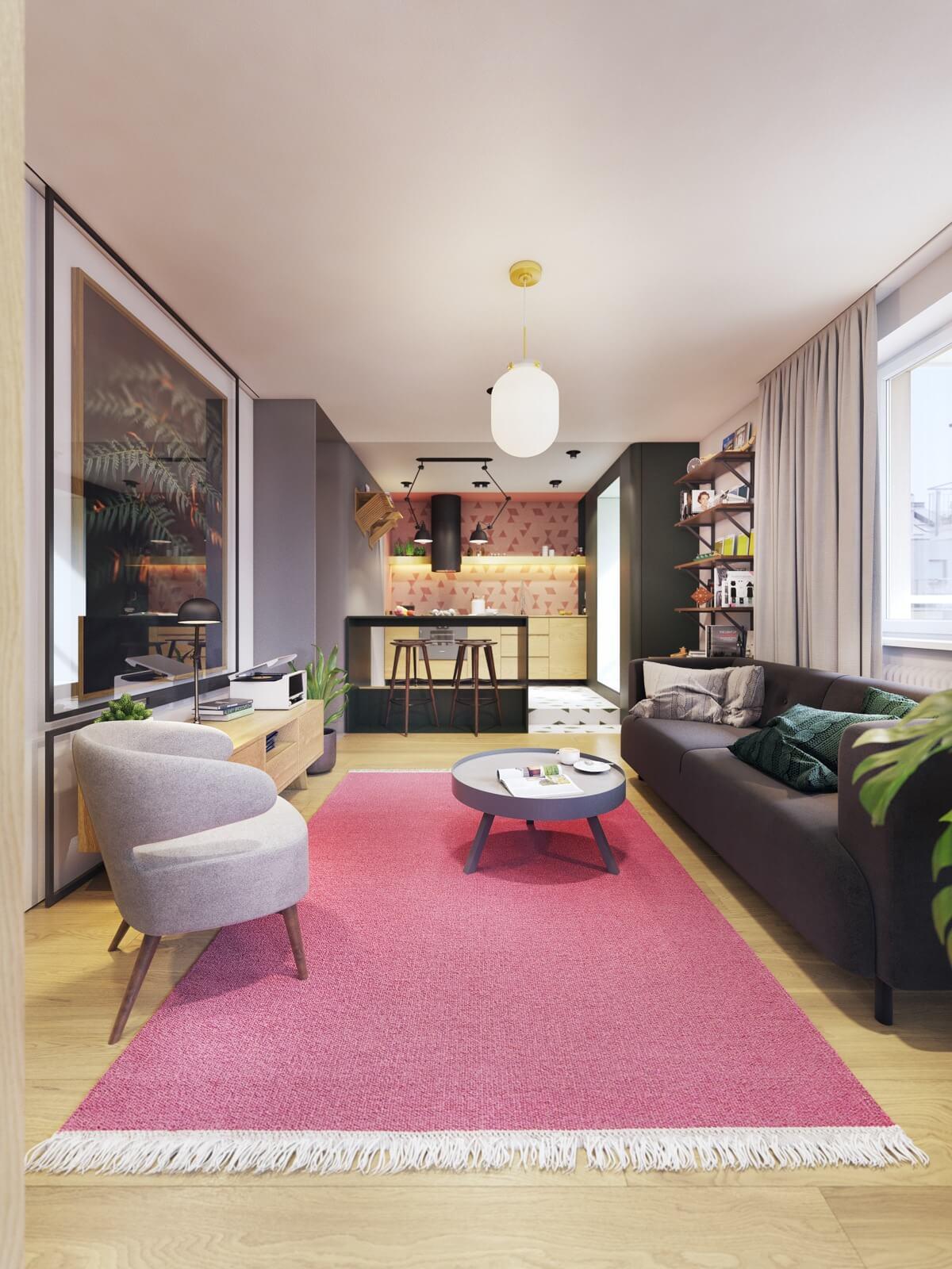 mẫu thiết kế nội thất chung cư hiện đại 2