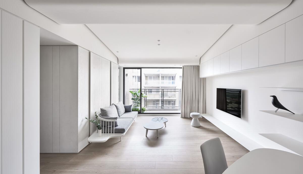 thiết kế nội thất chung cư đẹp phong cách tối giản 1