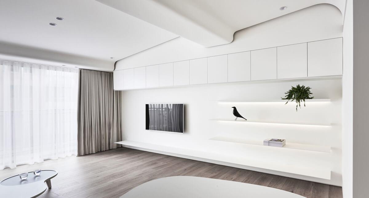 thiết kế nội thất chung cư đẹp phong cách tối giản 2