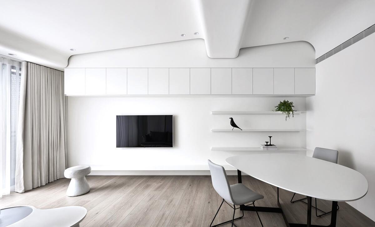 thiết kế nội thất chung cư đẹp phong cách tối giản 3