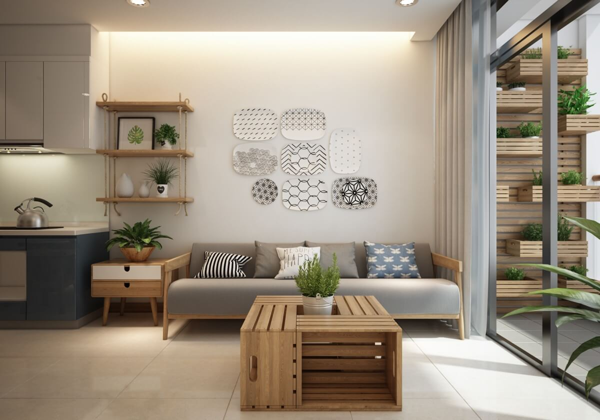 thiết kế nội thất chung cư phong cách á đông 1