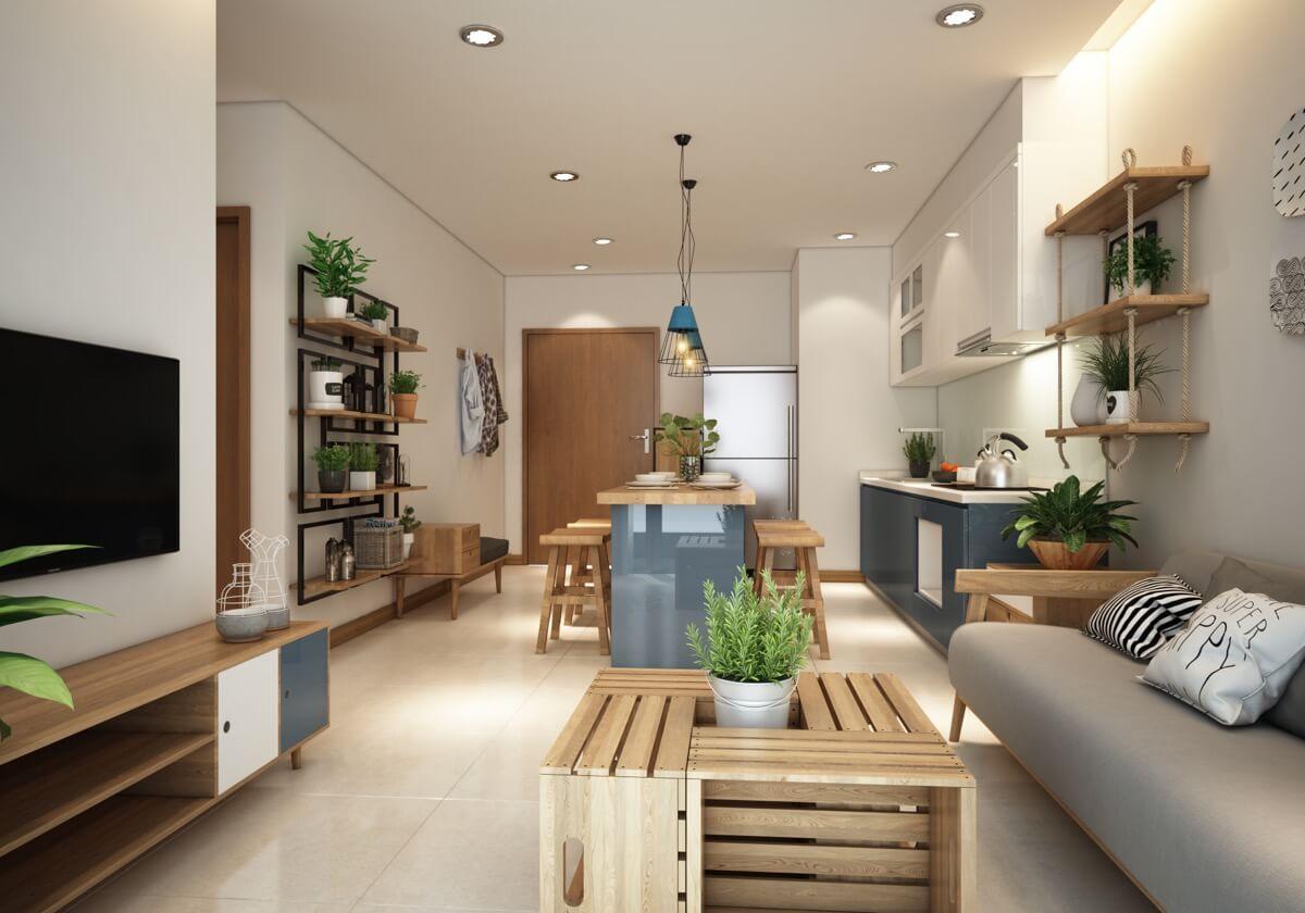 thiết kế nội thất chung cư phong cách á đông 2
