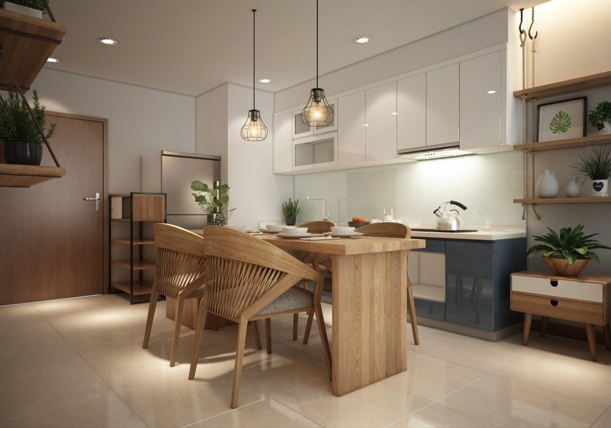 thiết kế nội thất chung cư phong cách á đông 3