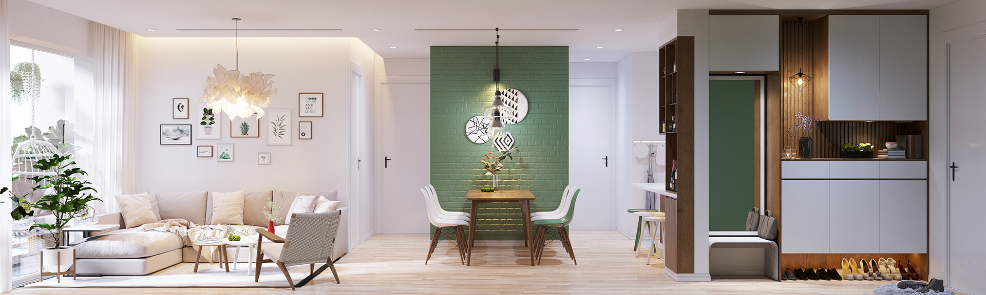 mẫu thiết kế nội thất chung cư scandinavia 2