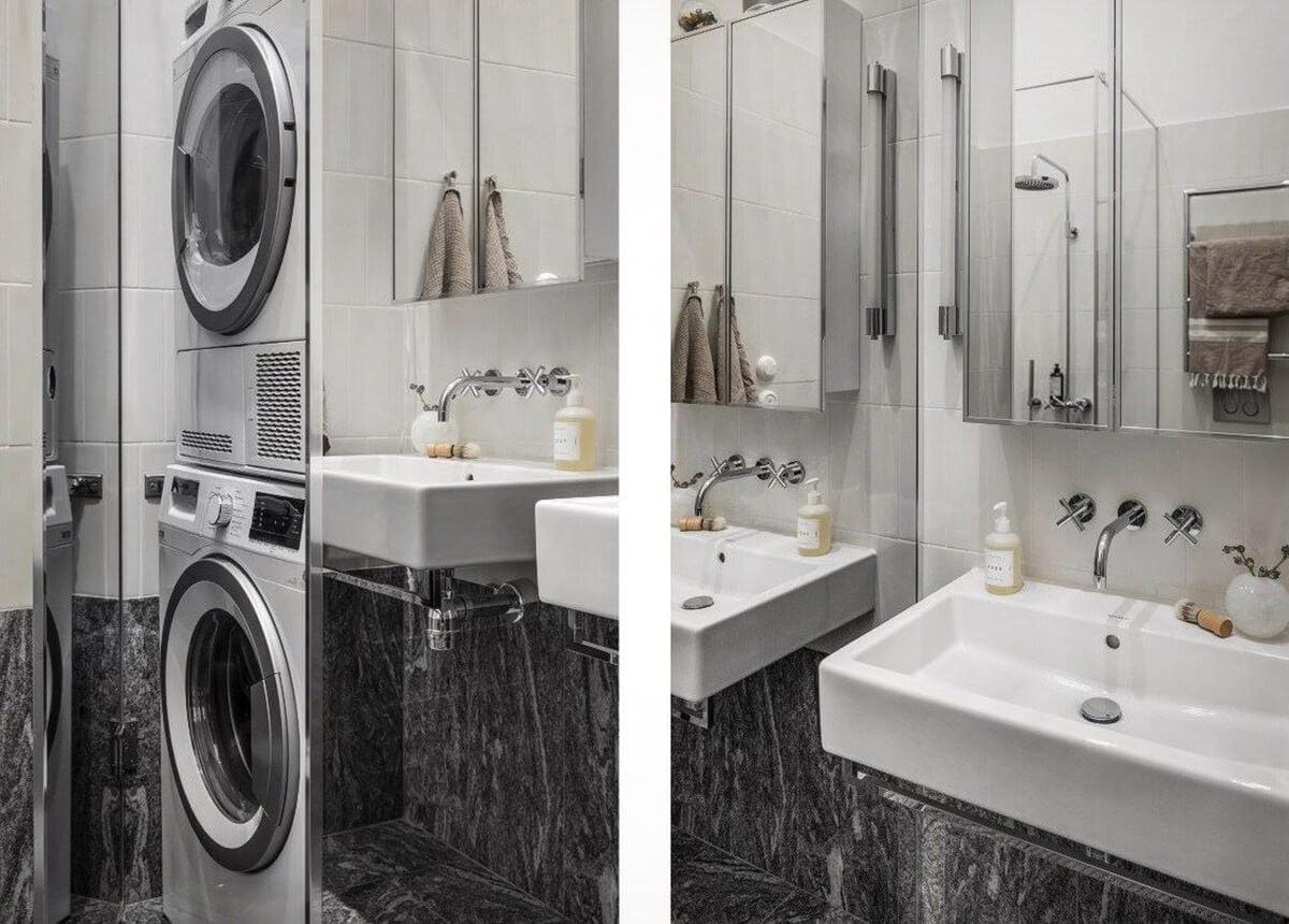 mẫu thiết kế nội thất chung cư hiện đại với gam màu xám 10