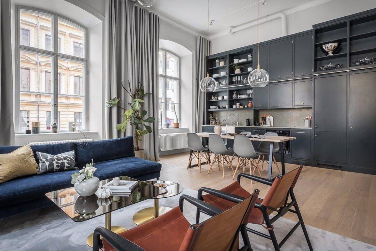 mẫu thiết kế nội thất chung cư hiện đại với gam màu xám 3