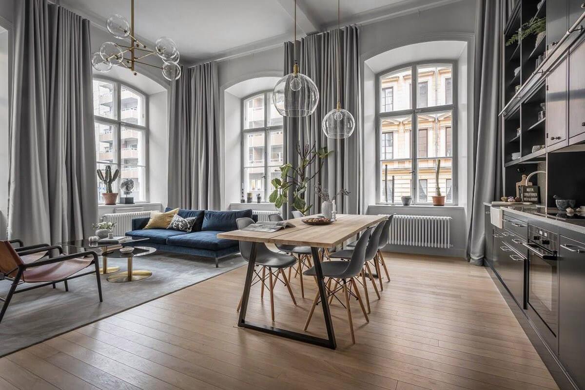 mẫu thiết kế nội thất chung cư hiện đại với gam màu xám 4